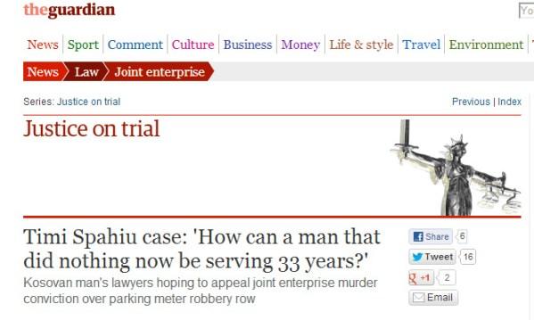 Rasti Timi Spahiu: Si është e mundur që njeriu i cili nuk bëri asgjë të dënohet me 33 vite burg? The Guardian