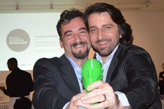 Perparim Rama (right) of 4M Group celebrates with a colleague