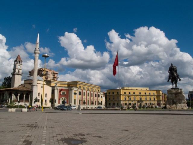 Center of Tirana, Albania's capital