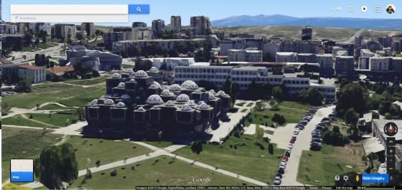 Prishtina in 3D, Google Maps
