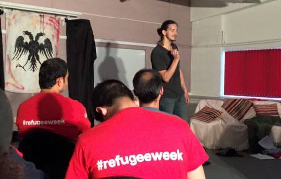 From yesterday's performance,  'Sanctum: A Refugee's Story'
