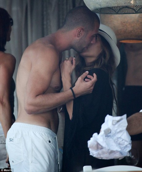Nicole Scherzinger was pictured smooching footballer Pajtim Kasami while enjoying a sunshine break in Mykonos, Greece on Sunday, where she has been celebrating her birthday
