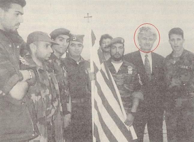 Greek volunteers in Bosnia with war criminal karadzic.