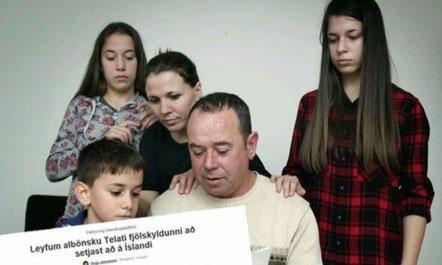 """Over 9,000 Icelanders: """"Let the Albanian Telati family settle in Iceland"""""""