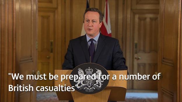 Cameron warns of British casualties after Paris terror attacks