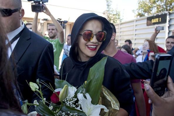 Rita Ora Arrives at Pristina Airport, September 2012