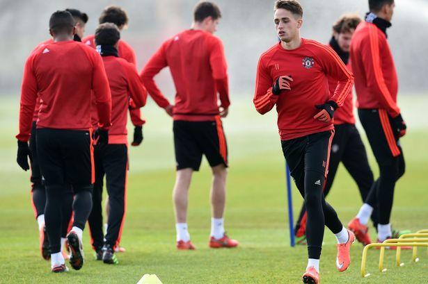 Adnan Januzaj during Manchester United training