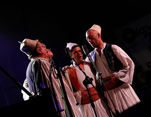An Albanian iso-polyphonic Choir