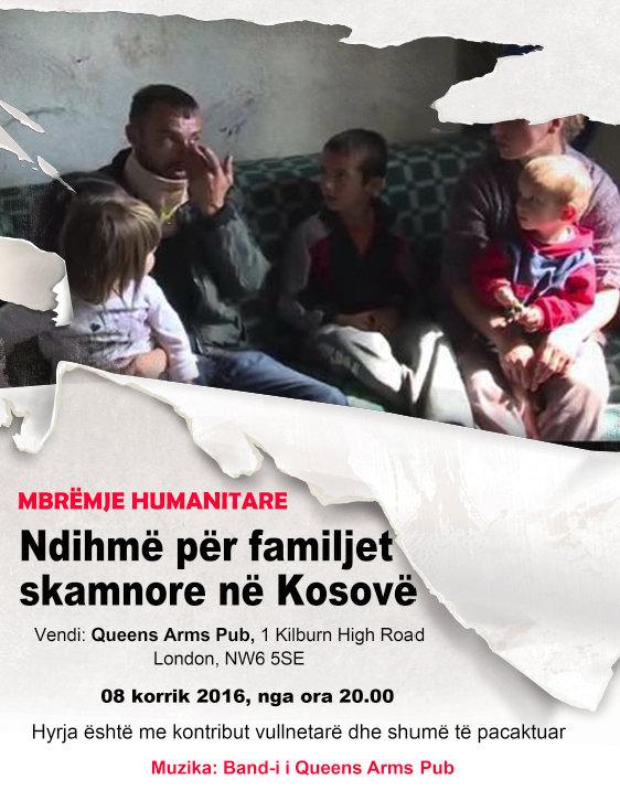 Mbrëmje bamirëse në Londër për familjet skamnore të Kosovës, 8 korrik 2016