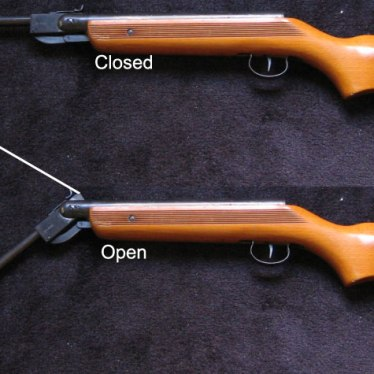 side view of air rifle