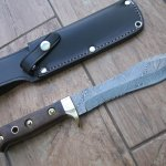 White Hunter Damascus steel  fixed Blade Survival Knife Review