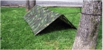 survival shelter using rope