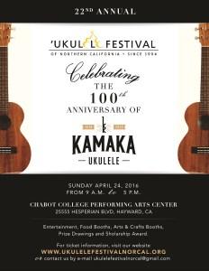 22nd Annual Ukulele Festival Kamaka Anniversary Chabot