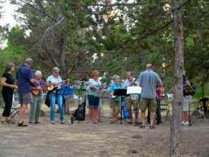 Jamming in the pines.