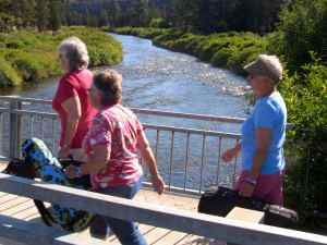 Crossing the Deschutes River on the way to class.