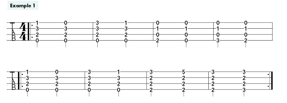 ukulele fingerstyle bootcamp example 1