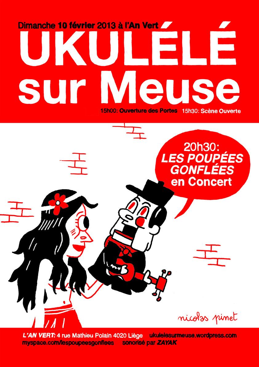 Ukulélé sur Meuse le 10 février 2013