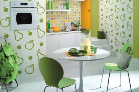 the fruity kitchen wallpaper