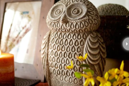 earthernware owl statue for home decoration
