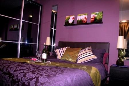 rich purple for teenage girls bedroom