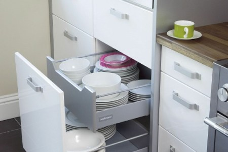 clever space saving kitchen ideas with storage drawers