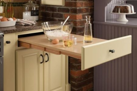 space saving kitchen ideas with pull out work surface
