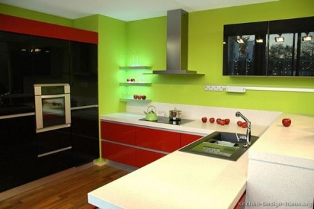 beautiful red green and black kitchen ideas