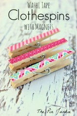 washi tape clothespins