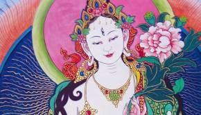 White Tara, a Buddha of Compassion
