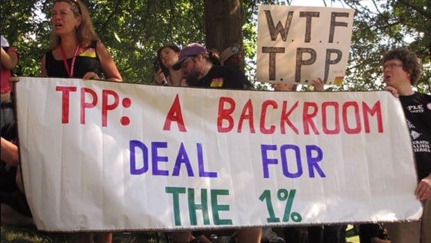 Trans Pacific Partnership TPP Protest