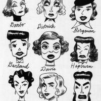 Vintage Celebrity Caricatures
