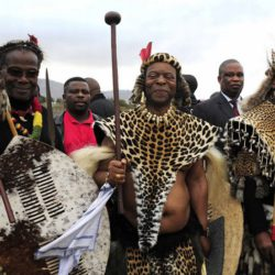 Chief Mangosuthu Buthelezi, King Goodwill Zwelithini and President Jacob Zuma
