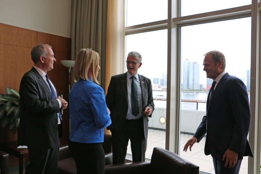 Mogens Lykketoft met the EU Principals participating in the Summit