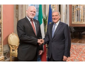 The UN GA President met with the President of the Senate of Italy