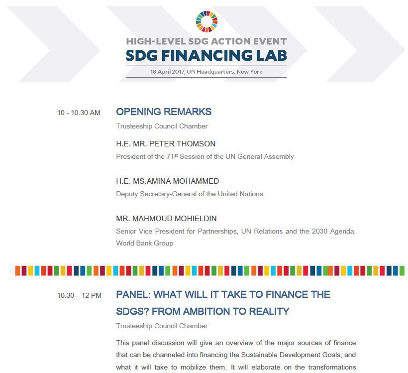 Programme SDG Lab