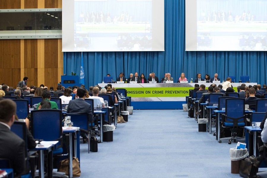 Photo: Closing of the week-long annual session of the Commission on Crime Prevention and Criminal Justice (CCPCJ) in Vienna, Austria. Photo: UNODC
