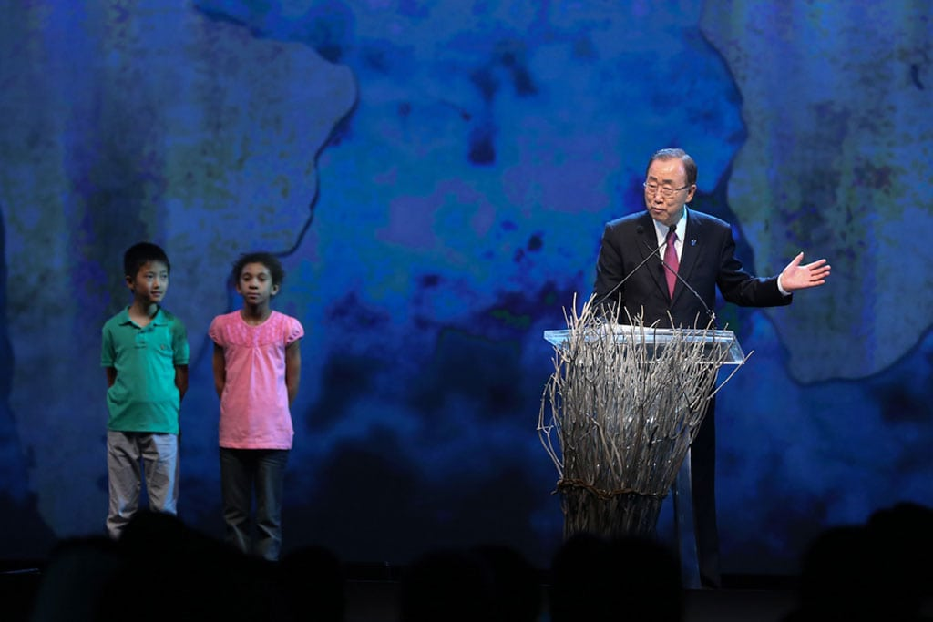 Photo: UN Secretary-General Ban Ki-moon opens the first-ever World Humanitarian Summit in Istanbul, Turkey, 23 May 2016.