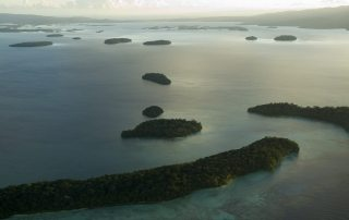 Photo: An aerial view of Marovo Lagoon in the Western Province of the Solomon Islands. UN Photo/Eskinder Debebe.