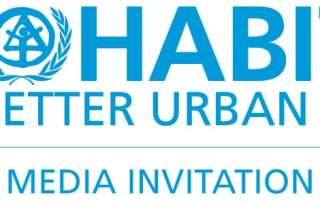 Logo: UN HABITAT - For a Better Future - Media Invitation