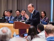 Photo: Secretary-General Ban Ki-moon addresses the Ministerial Segment of the ECOSOC High-level Political Forum on Sustainable Development. UN Photo/Manuel Elias