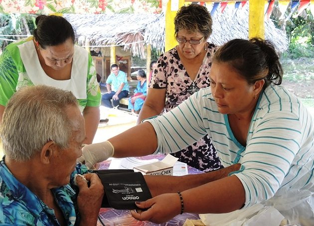 Photo: In a creative new initiative to improve health and save lives in villages across Samoa, women's groups are mobilizing their communities to prevent and control noncommunicable diseases (NCDs). WHO/S. McCarthy