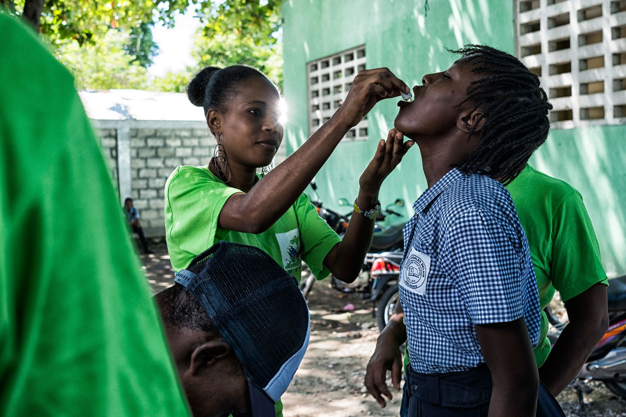 Photo: The Pan American Health Organization-World Health Organization (PAHO/WHO), UNICEF and Haiti's Ministry of Health launched in Archaie the first phase of a cholera vaccination campaign targeting 400,000 persons in 2016.