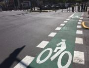 Photo: A bike lane in Quito, Ecuador.