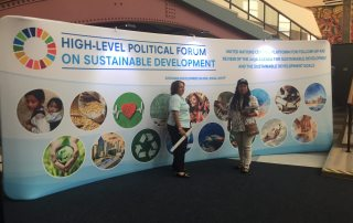 PHOTO: The General Assembly Building lobby during HLPF on 11 July 2017.