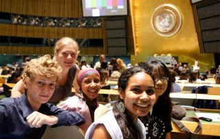 Young people at the launch of the International Year of Youth, celebrated annually on 12 August. UN Photo/Paulo Filgueiras