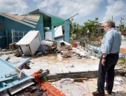 Photo: Secretary-General António Guterres walks through Codrington town in Barbuda to see firsthand the devastation left behind by Hurricane Irma.