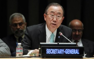 Secretary-General Ban Ki-moon addresses the opening session of the 2014 Economic and Social Council Youth Forum. UN Photo/Devra Berkowitz
