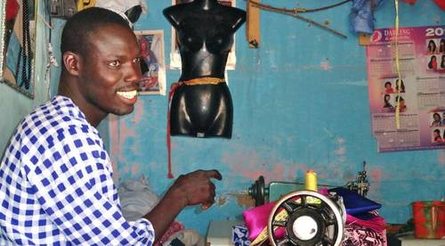 A young tailor in Senegal