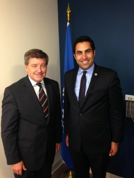 ILO Director Guy Ryder with UN Envoy on Youth Ahmad Alhendawi