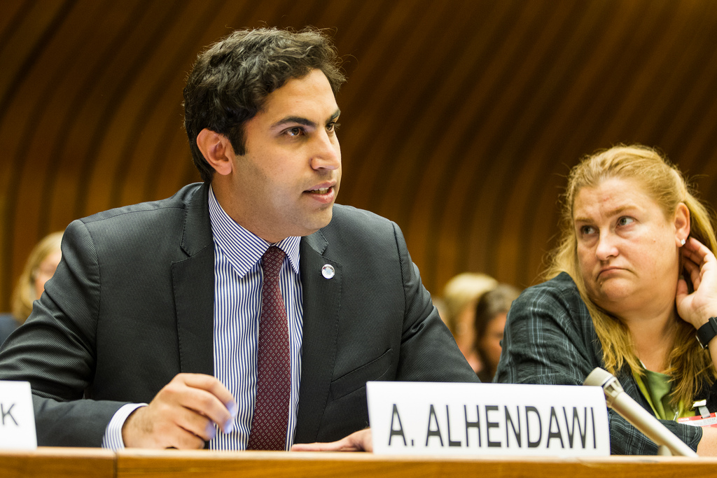 Ahmad Alhendawi at the UNECE Conference